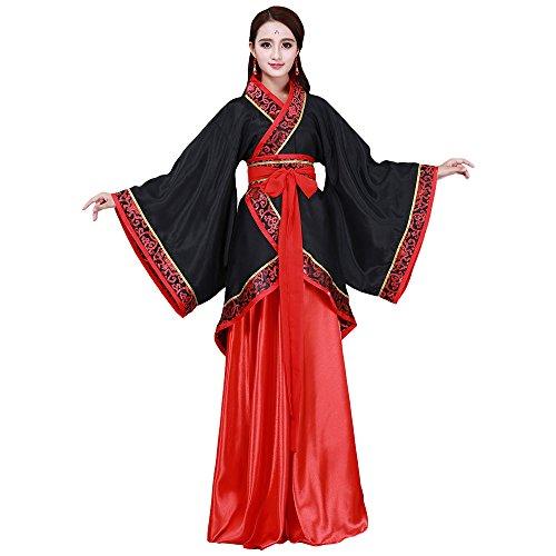 Fu Classic China Red Tang Women Traditional Fashion Costume Court Black Han for ZooBoo XL Princess FxqwU5nBq