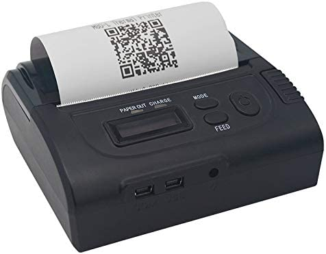 GzPuluz Impresora de Recibos térmica portátil Bluetooth POS ...