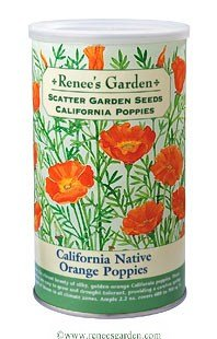 California Native Orange Poppies Scatter Garden