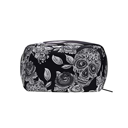 os Muertos Makeup Bags Multi Compartment Pouch Storage Cosmetic Bag ()