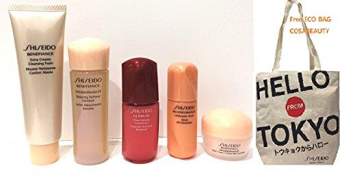 Shiseido Benefiance Travel size Basic 5 pc kit with ECOBAG