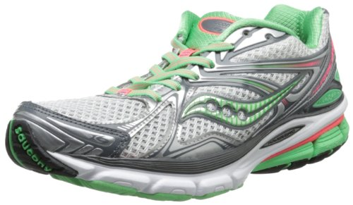 Saucony Women's Hurricane 16 Running Shoe,Grey/Green/Pink,5 M US