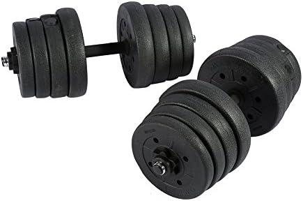 2 Mancuernas Juego de Pesas 30 kg, Gym Entrenamiento Bíceps ...
