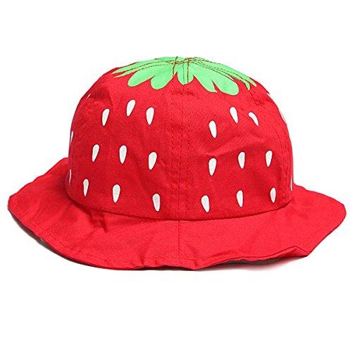 74fc664d6 Baby Infant Girl Strawberry Cotton Bucket Hat Sun Visor Cap.: Amazon ...