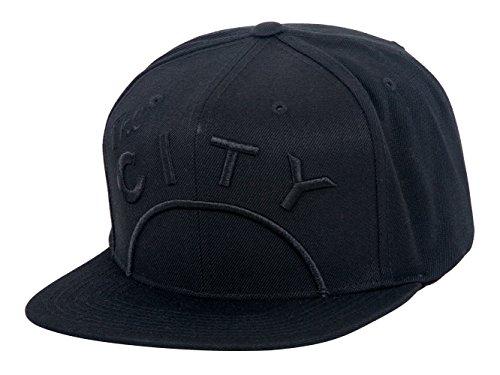 (Mitchell & Ness Golden State Warriors NBA Cropped XL Tonal Logo Adjustable Snapback Hat (Alternate Logo - Black))