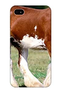 52003214232 Tough Iphone 4/4s Case Cover/ Case For Iphone 4/4s(horse Images) / New Year's Day's Gift