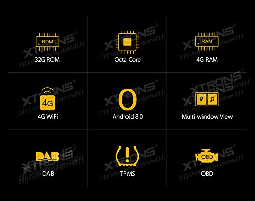 9 Android 8 Reproductor de radio est/éreo de coche 4G RAM 32G ROM Octa Core HD Digital multi-touch pantalla OBD2 DVR vigilancia de la presi/ón de los neum/áticos WiFi para BMW E46 3ER M3 rover 75 MG ZT