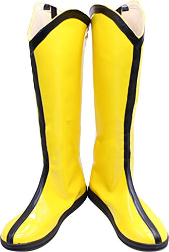 Whirl Cosplay Boots Shoes for X Men Wolverine Yellow
