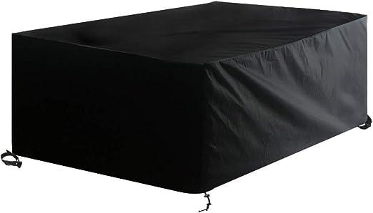 Awnic Funda para Muebles de Jardín Impermeable Funda para Mesa Sillas de Patio al Aire Libre 210x120x80cm: Amazon.es: Jardín