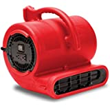 B-Air VENT VP-33 1/3 HP 2530 CFM Air Mover Carpet Dryer Floor Fan for Plumbing Janitorial Water Damage Restoration Red