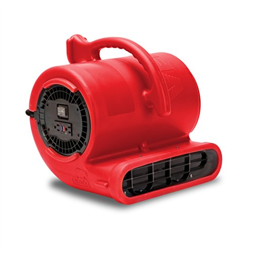 B-Air VENT VP-33 1/3 HP 2530 CFM Air Mover Carpet Dryer Floor Fan for Plumbing Janitorial Water Damage Restoration Red by B-Air