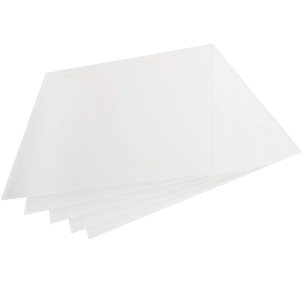 MagiDeal 5 Pièces Plaque Acrylique, Epaisseur, Transparent 200 x 200 x 3 mm
