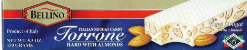 Bellino Torrone (Hard Nougat) with Almonds, 5.3-Ounce Bars (Pack of 3) ()