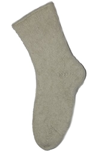 Synthetic Mohair (Men's Hand-Knitted Natural Mohair and Wool Socks by Granny's Knitwear (White, XXXL))