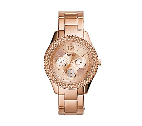 Fossil Women's 38mm Stella Rose Goldtone Stainless Steel Bracelet Watch With Tonal Dial