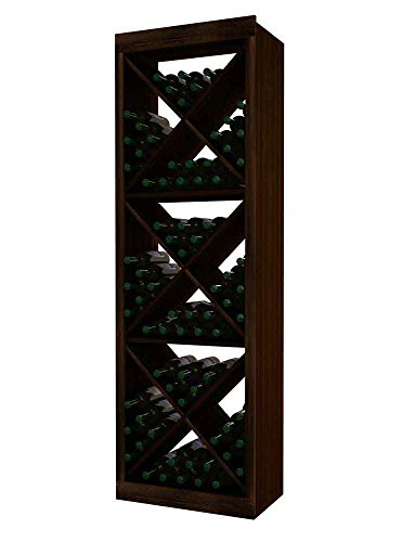 Wine Cellar Innovations DPM-DW-SDC(G2)-A3 Designer Series Solid Diamond Cube (Solid Material) Wine Rack, Prime Mahogany, Without Lacquer Finish, Dark Walnut (Designer Solid Diamond Cube)
