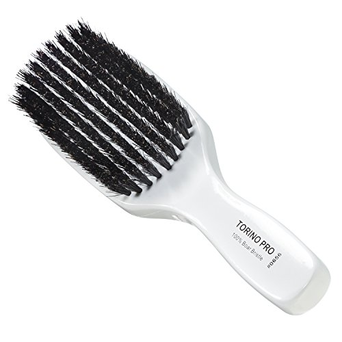Torino Pro Wave Brush #0656 By Brush King - 9 Row, Medium Wave Brush - Made with 100% Boar Bristles -True Texture Medium - All Purpose 360 Waves Brush - Great Pull by Torino Pro
