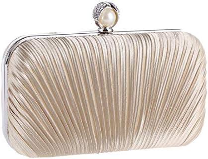 女性用ダイヤモンドクラッチ財布、トートバッグファッションイブニング手作りプリーツファブリッククラフトバッグ、20 * 12 * 5 Cm(カラー:ベージュ) 美しいファッション (Color : Beige)