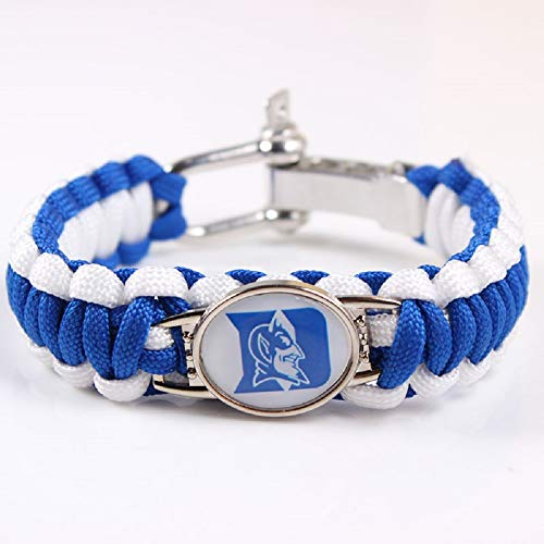 Swamp Fox Duke Blue Devils College Paracord Bracelet Adjustable with Insert Pin 7