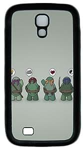 Funny Tmnt Teenage Mutant Ninja Turtles Custom Designer Samsung Galaxy S4 Case and Cover - TPU - Black