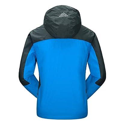 YSENTO Mens Lightweight Waterproof Jacket Windproof Outdoor Camping Hiking Mountain Jacket Coat with Hood 2