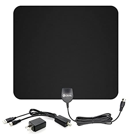 Sotek 50 Miles Range Amplified Indoor HDTV Antenna with Detachable Amplifier Booster USB Power Supply to Boost Signal and 13ft Coaxial Cable (My Amazon Order So Far)