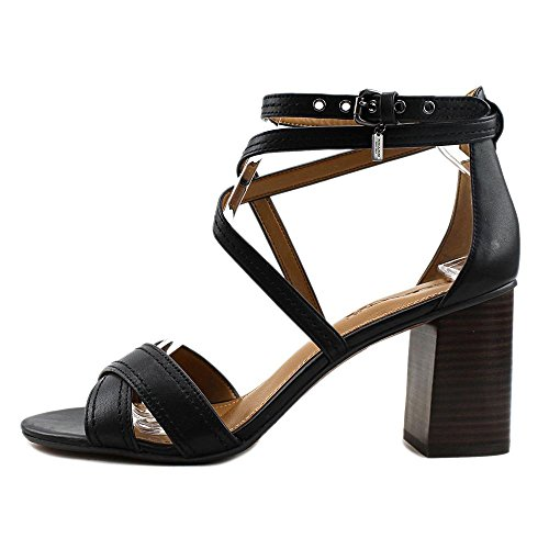 Womens Casual Toe Black Strappy Phoebe Coach Sandals Open fwAWqdfHv