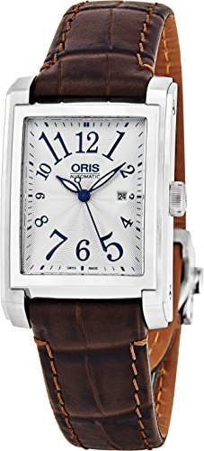 Oris-Rectangular-Date-Womens-Silver-Face-Luminous-Hands-Swiss-Made-Brown-Leather-Band-Rectangle-Automatic-Watch-01-561-7656-4061-07-5-17-70FC