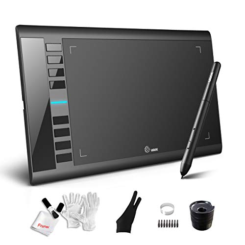 Graphics Drawing Tablet M708 UGEE 10 x 6 inch Large Active Area Drawing Tablet with 8 Hot Keys, 8192 Levels Pen, UGEE M708 Graphic Tablets for Paint, Digital Art Creation Sketch ...