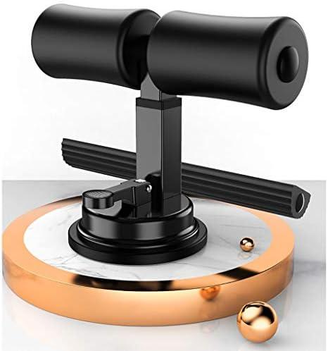 XingLIシットアップ機器、ホーム仕事や旅行(ハイエンド黒、女の子、ピンク、ピュアブルー、3色をご用意)のためのポータブルアジャスタブルシットアップシットアップフロアバーの自己吸引のトレーニング機器 (Color : Black)