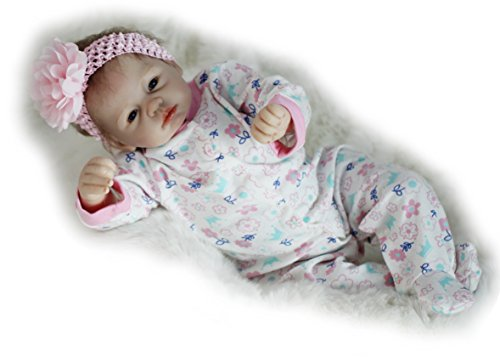 Be Sweet Mohair (Soft Body Baby Reborn Dolls Realistic Newborn Premie Dummy Mohair Open Eyes, 22-Inch for Women Treats Nursery Training)