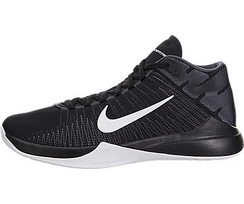Nike Men's Zoom Ascention Black/White Anthracite Drk Gry Basketball Shoe 12 Men US