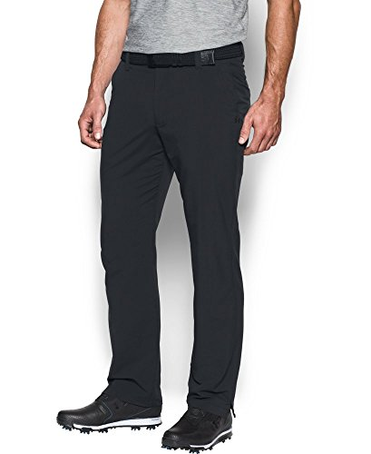 Trousers Straight Pocket Leg - Under Armour Men's Match Play Golf Pants - Straight Leg, Black/True Gray Heather, 40/30