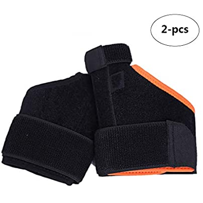 XLanY Thumb Protection Basketball Sprain Fixed Thumb Protection Wrist Sports Wristband for Powerlifting Bodybuilding Weight Lifting Strength Training One Size Fits All Men amp Women Estimated Price £19.99 -