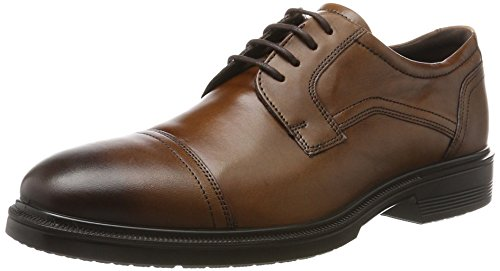 ECCO Men's Lisbon Cap Toe Tie Oxford, Amber, 40 EU/6-6.5 M US