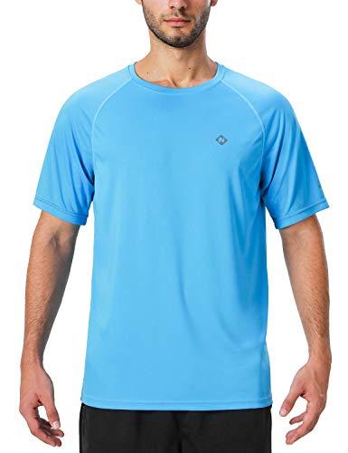 Naviskin Men's Sun Protection UPF 50+ UV Outdoor Short Sleeve T-Shirt Blue Size XL
