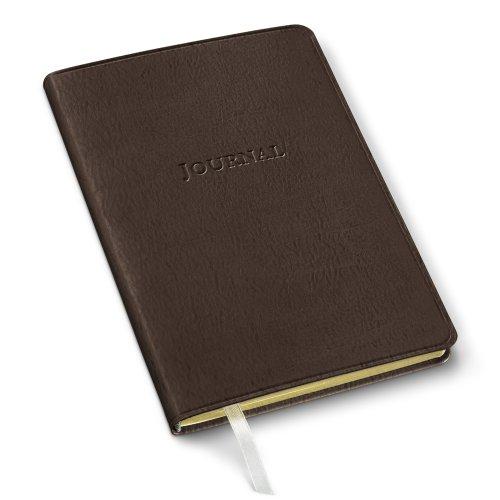 Gallery Leather Desk Journal Freeport Mocha - Italian Brown Journal Leather