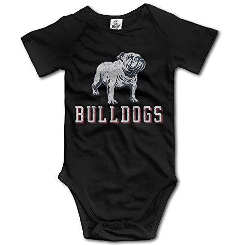 Baby Child 100% Cotton Short Sleeve Onesies Toddler Bodysuit Cruel Bulldog Baby Onesies Black Size 12 Months (Frozen Video Cam)