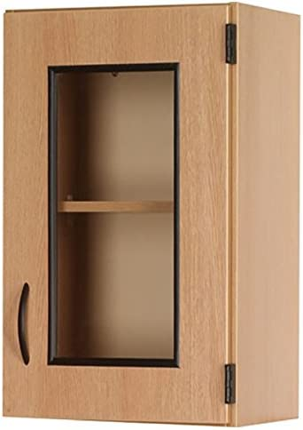 Amazon Com Wall Display Cabinet Right Hinge Door 18 W X 30 H X 14 D Color Dark Elm By Ttking Kitchen Dining