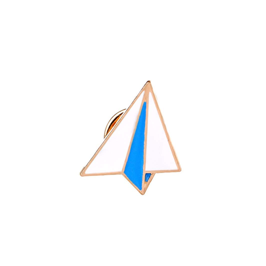 YouCY Creative Brooch Simple Paper Airplane Brooch Envelope Windmill Pencil Bag Accessories Brooch Painting Brooch,Paper Plane