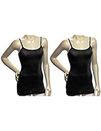 Women's Camis With Built In Shelf Bra (2 Or 4 Pack)