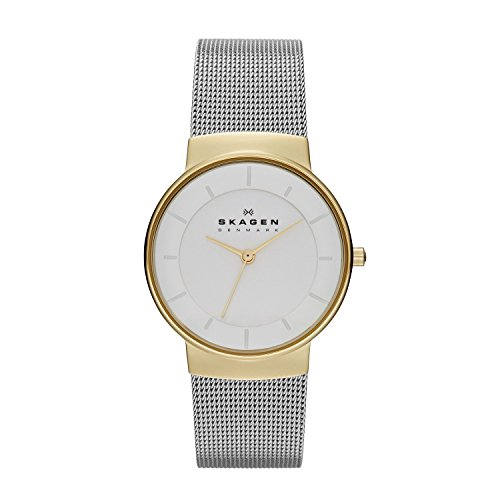 Fossil White Gold Bracelets (SKAGEN Klassik Womens Three-Hand Stainless Steel Watch Gold-Tone)