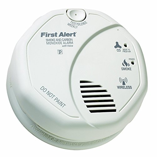 Firstly Alert SCO500B OLCOMBOV Wireless Interconnect Smoke and Carbon Monoxide Combo Alarm with Voice & Location, Frust Free