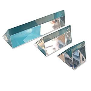 """Sciencent Set of 3 Acrylic Prisms 1"""" 2"""" 4"""""""