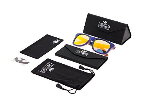 Gafas NEGRA MOSCA madera Sunglasses modelo Polarized Blue de ® SKATE Wood rR6RwPx