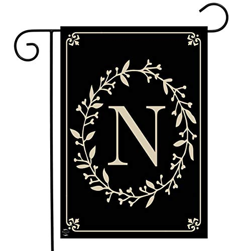 Briarwood Lane Classic Monogram Letter N Garden Flag Everyday 12.5