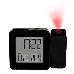 Oregon Scientific RM338P Reloj proyector con despertador y temperatura interior, alarma dual, pantlla LCD retroiluminada, Negro 3