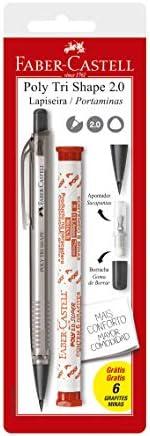 Lapiseira 2.0mm com Borracha e Apontador + Grafite, Faber-Castell, Poly Tri Shape, SM/20TSCMIX, Cores Sortidas
