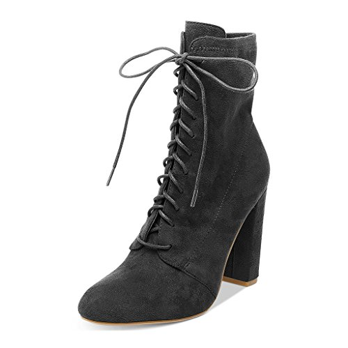7f1455249acd2 high-quality XYD All-match Ankle Boots Faux Suede Lace Up Shoes ...