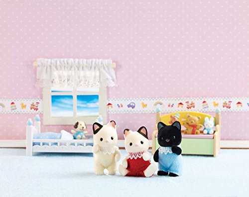 Amazon.com: Calico Critters Baby Friends Triplets and Tuxedo Cat ...